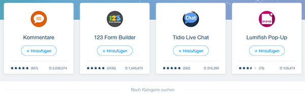 Wix kann mit verschiedenen Apps ganz einfach erweitert werden
