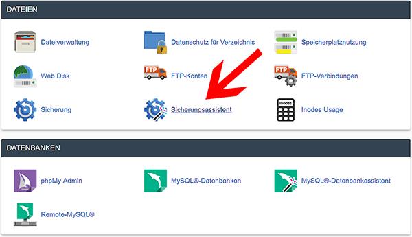 MYSQL Datenbank in Cpanel exportieren