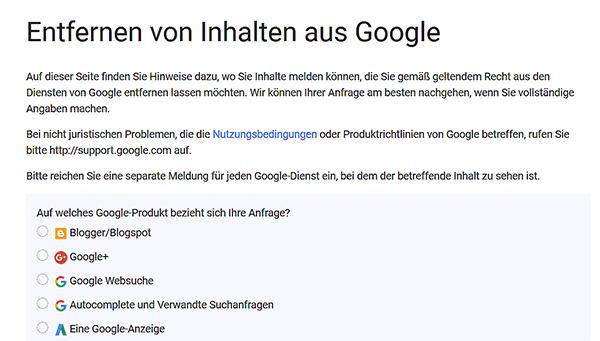 Bei Google kannst du einen Antrag gegen kopierte Webseiten stellen.