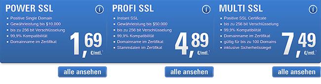SSL Zertifikate kaufen
