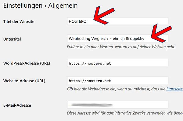 so kannst du den Titel der Webseite verändern