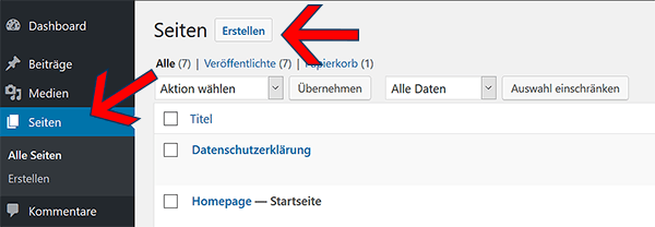 So erstellst du Webseiten in WordPress