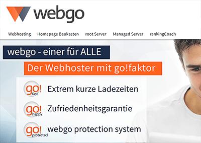 Webgo Webhosting im Test