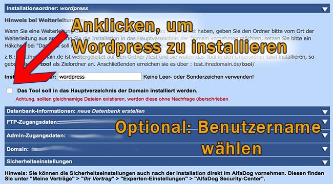WordPress ganz einfach installieren