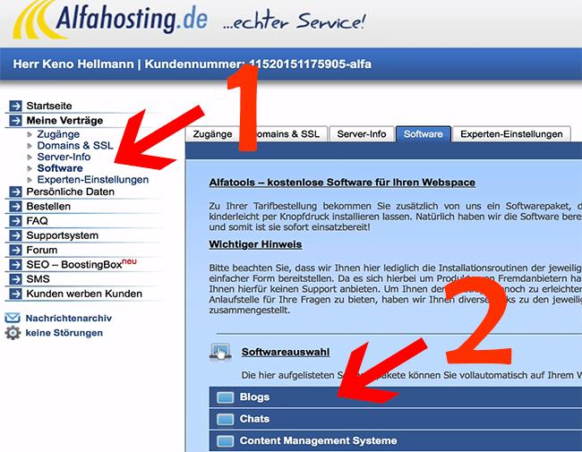 WordPress für deine Webseite installieren