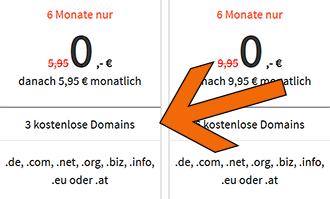 Domainadresse beim Anbieter kaufen.